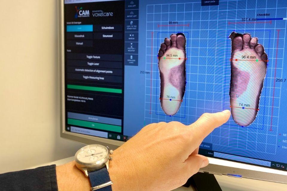 3d voetafbeelding sengers podotherapie wijchen